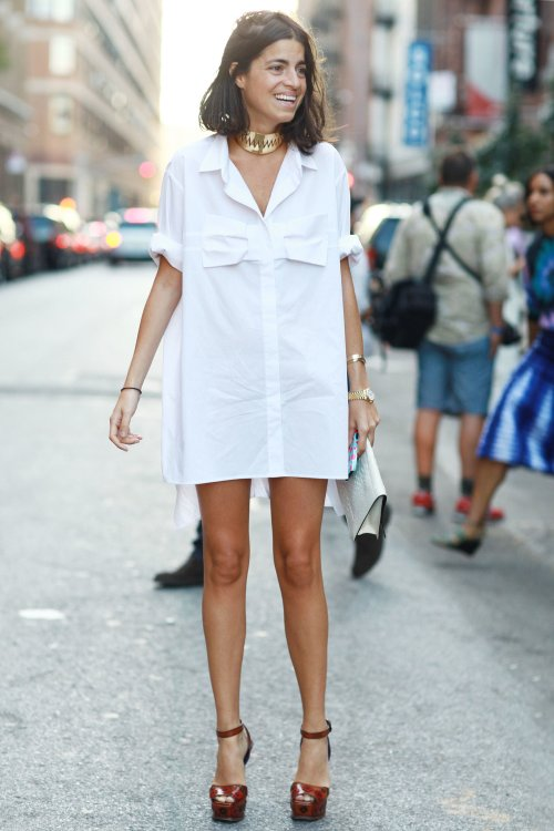 ALeandra-Medine-channeled-Tom-Cruise-Risky-Business-days-white-shirtdress