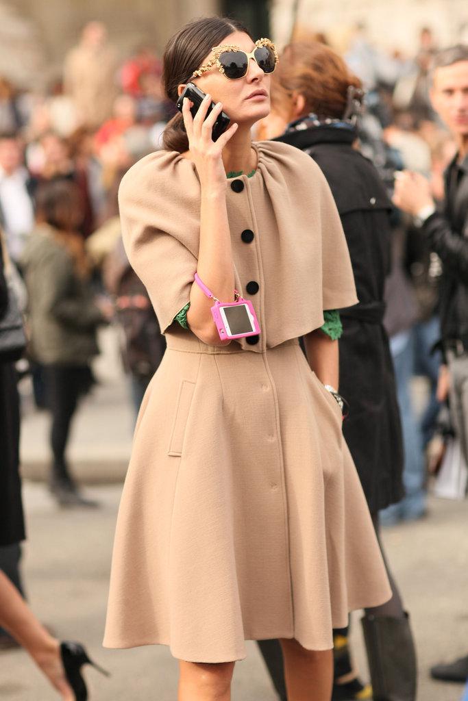 Paris Fashion Week Street Style Spring 2013 Giovanna Battaglia Thetallandtheshortofit